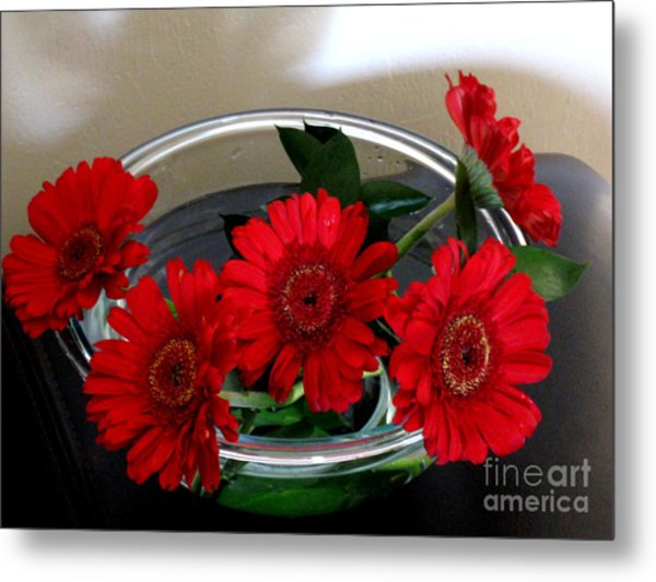 Red Flowers. Special Metal Print