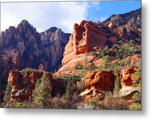 Red Rock Country Landscapes Metal Print