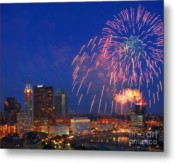 Red White And Boom Photo Metal Print