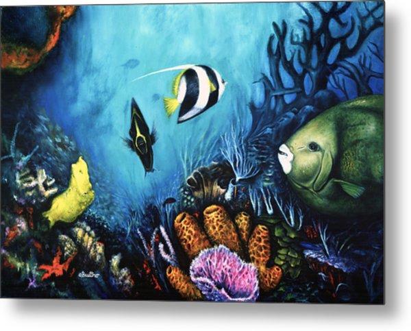Metal Print featuring the painting Reef Dwellers by Lynn Buettner