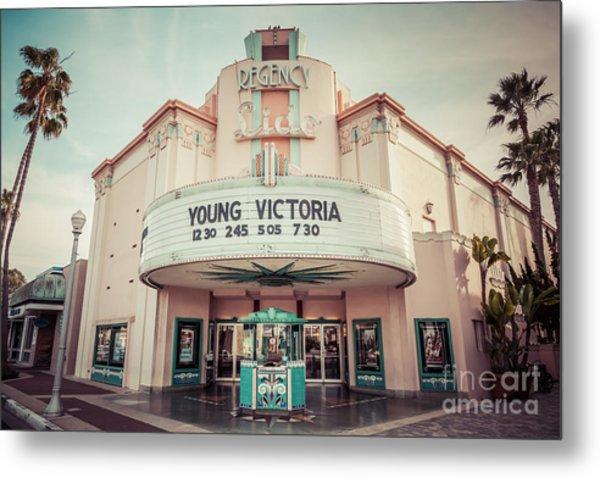 Regency Lido Theater Newport Beach Picture Metal Print by Paul Velgos
