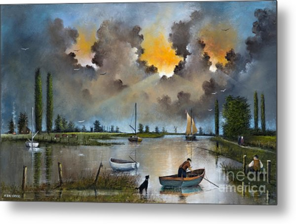 River Yare On The Broads Metal Print