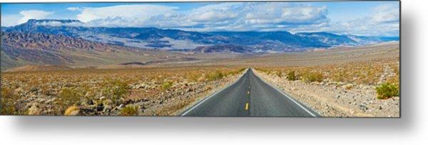 Road Passing Through A Desert, Death Metal Print