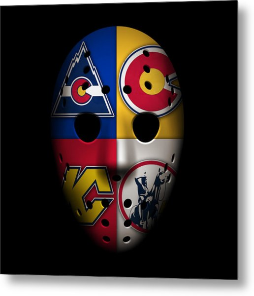Rockies Goalie Mask Metal Print