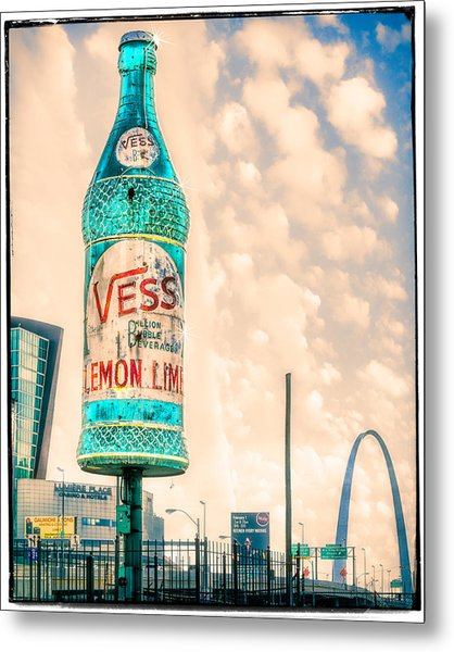 Rotating Vess Soda Bottle  Metal Print