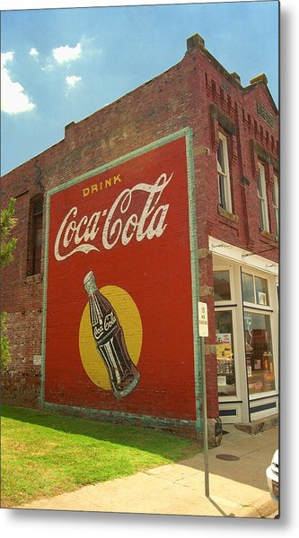 Route 66 - Coca Cola Ghost Mural Metal Print