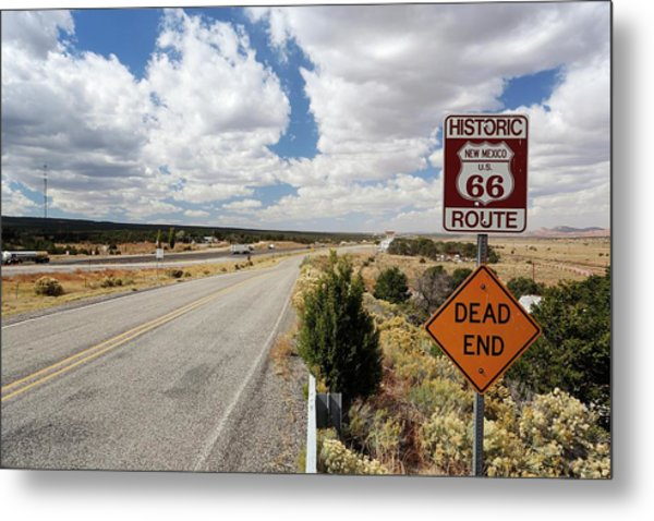 Route 66 Sign Metal Print by Michael Szoenyi