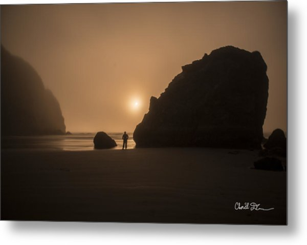 Ruby Beach Sunset Metal Print