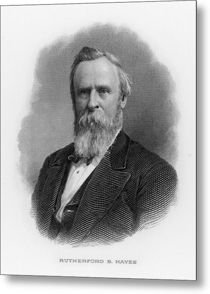 Rutherford Birchard Hayes  19th Metal Print by Mary Evans Picture Library