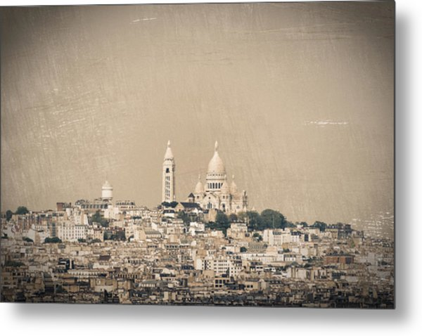 Sacre Coeur Basilica Of Montmartre In Paris Metal Print