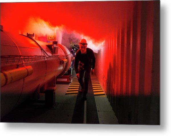 Safety Training At Cern Metal Print by Cern