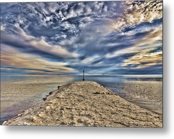 Salt Pier Salton Sea Metal Print