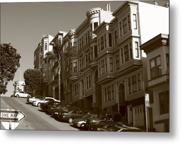 San Francisco Hills  Metal Print