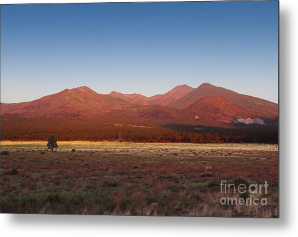 Metal Print featuring the photograph San Francisco Peaks Sunrise by Jemmy Archer