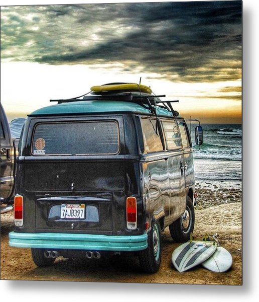 Sano Surf Bus And Boards Metal Print