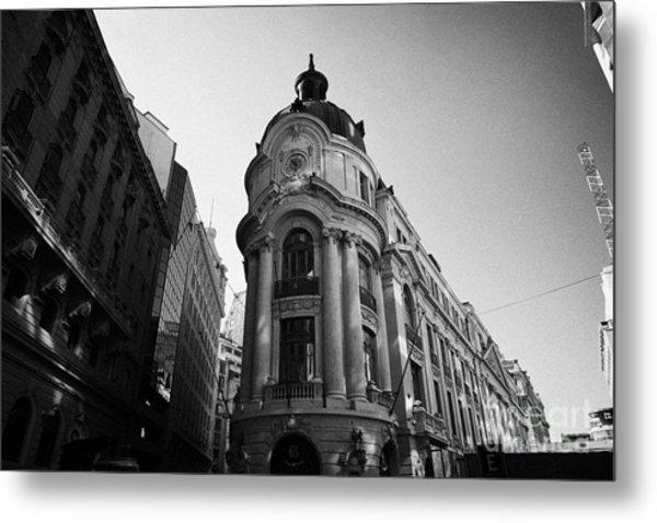 Santiago Stock Exchange Building Chile Metal Print by Joe Fox