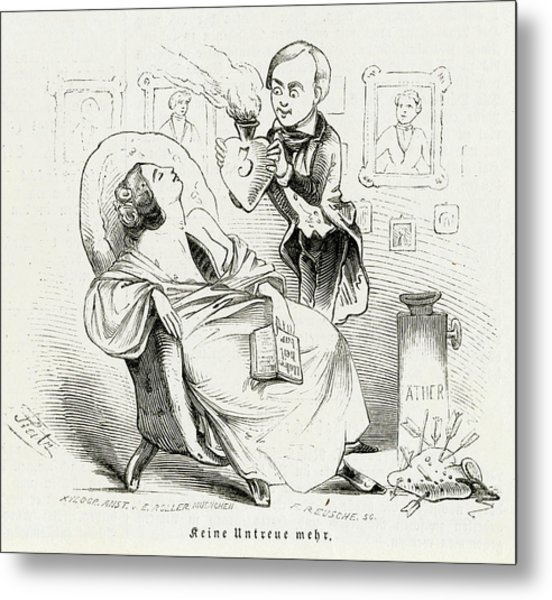 Satireresults Of Ether - Surgery Metal Print by Mary Evans Picture Library