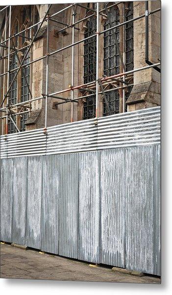 Scaffolding Metal Print