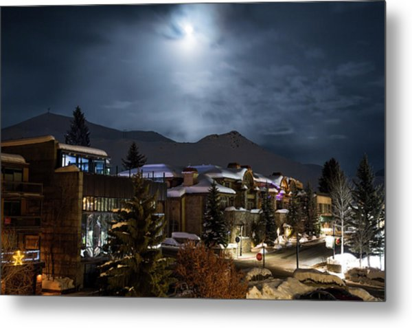 Scenes From A Ski Town Metal Print