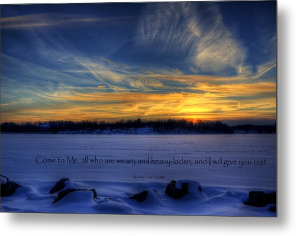 Scripture Photo Metal Print