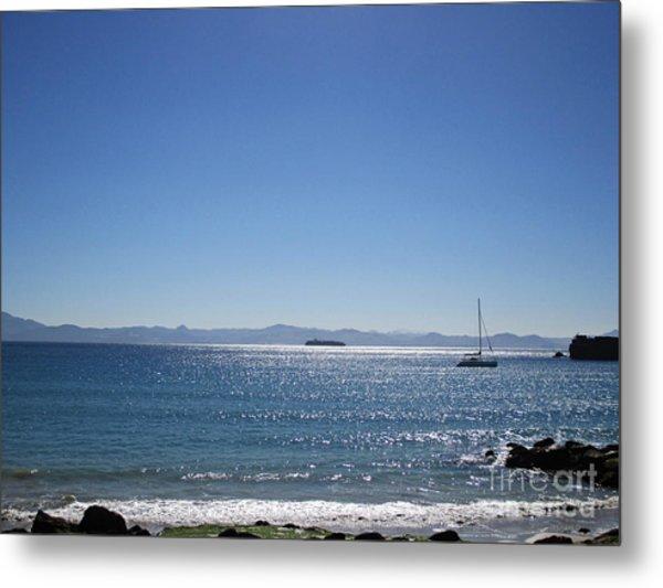 Sea In Tarifa Metal Print