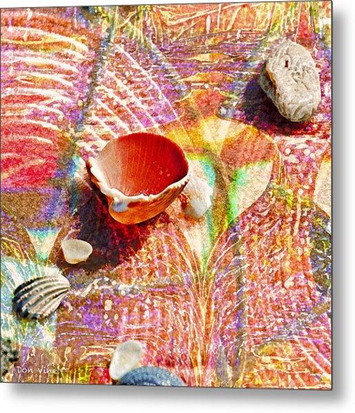 Sea Shells In A Row Metal Print
