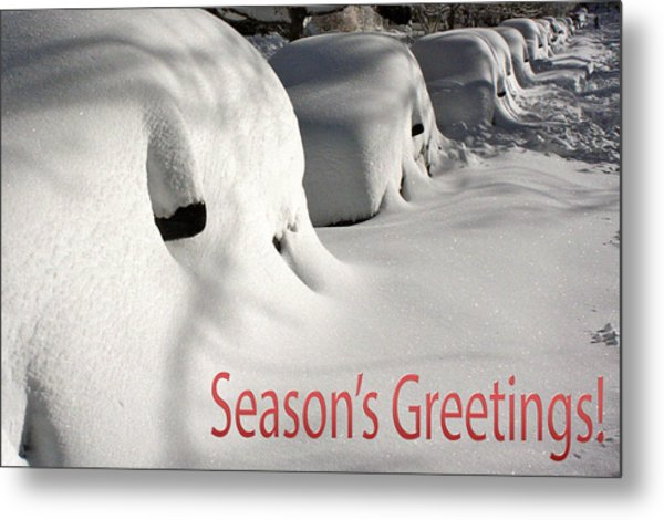 Season's Greetings Metal Print