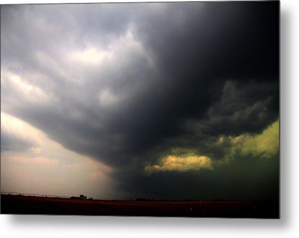 Metal Print featuring the photograph Severe Cells Over South Central Nebraska by NebraskaSC