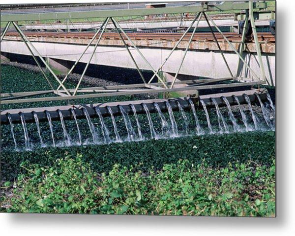 Sewage Works Metal Print by Robert Brook/science Photo Library