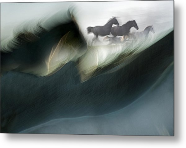 Shadows Of Power Metal Print