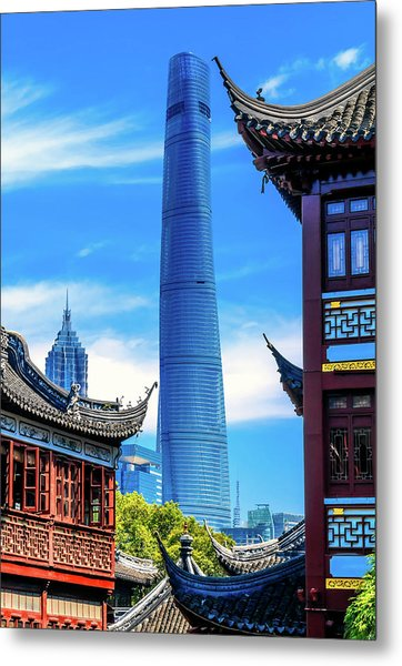 Shanghai Tower, Second Tallest Building Metal Print by William Perry