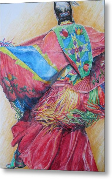 Shawl Dancer Metal Print