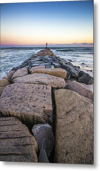 Shinnecock Inlet Jetty Metal Print