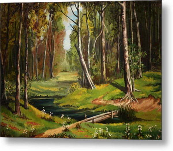 Silence Of The Forest Metal Print