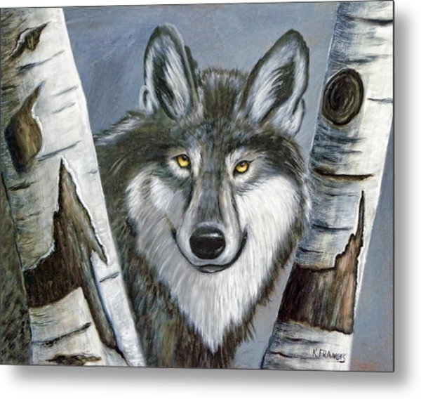 Silent Watcher Metal Print