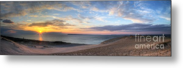 Sleeping Bear Dunes Sunset Panorama Metal Print by Twenty Two North Photography