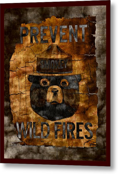 Smokey The Bear Only You Can Prevent Wild Fires Metal Print