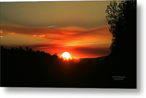 Smokin' Payson Sunset Metal Print