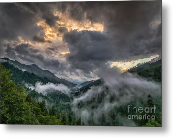 Smoky Sunset Metal Print