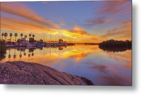 Smyrna Yacht Club Sunrise II Metal Print by Danny Mongosa