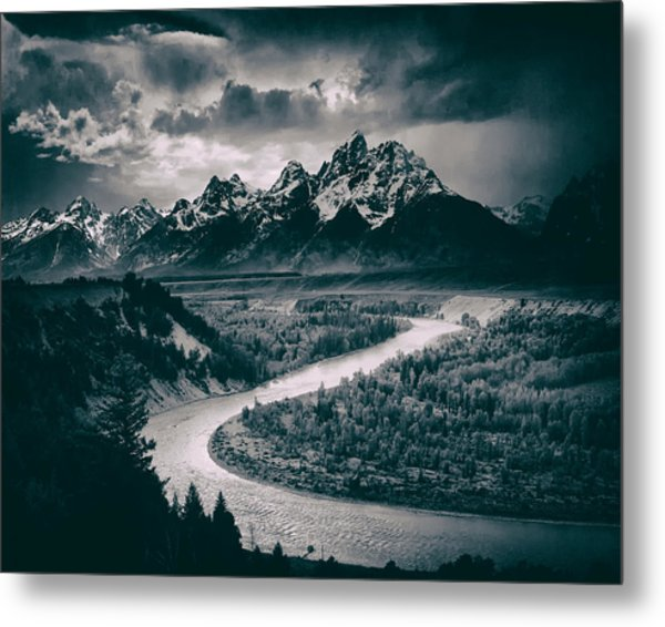 Snake River In The Tetons - 1930s Metal Print