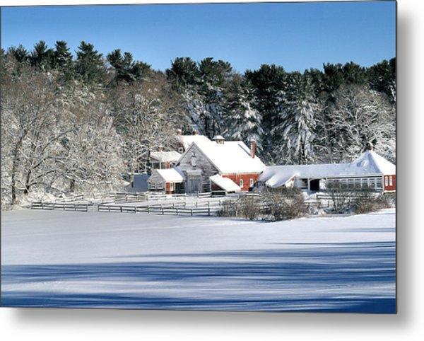 Snow Farm Metal Print