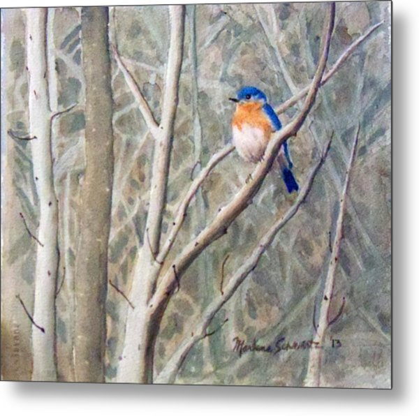 Something Blue Metal Print