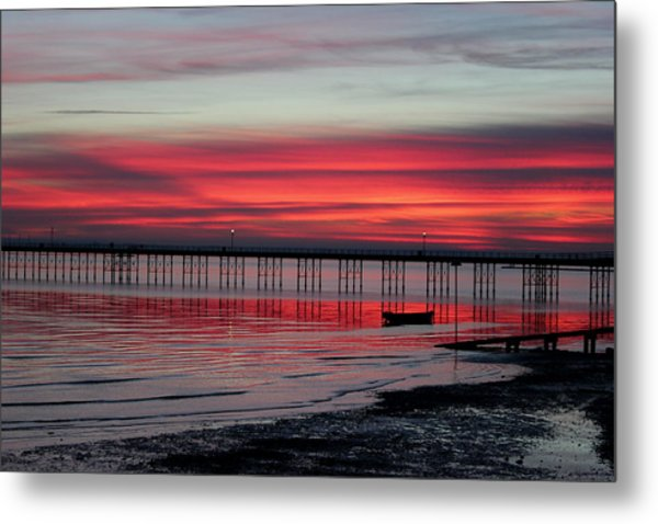Southend Pier Sunset Metal Print