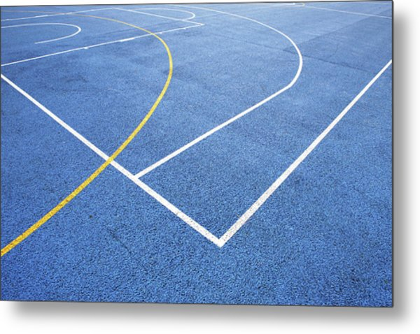 Sports Court Metal Print by Richard Newstead