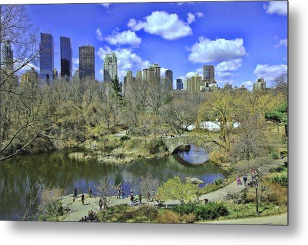Springtime In Central Park Metal Print