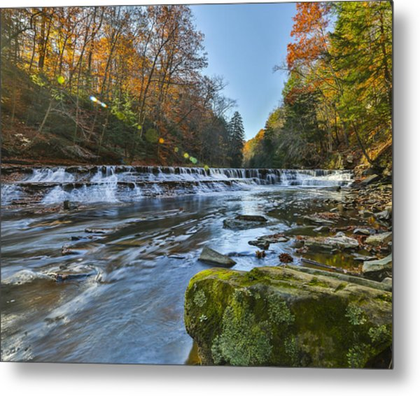 Squaw Rock - Chagrin River Falls Metal Print