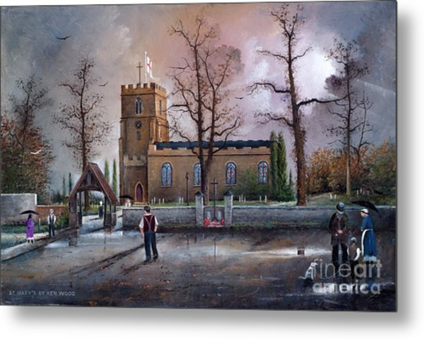 St Marys Church - Kingswinford Metal Print