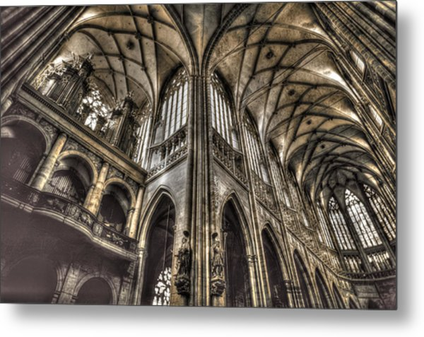 St Vitus Cathedral Prague Metal Print