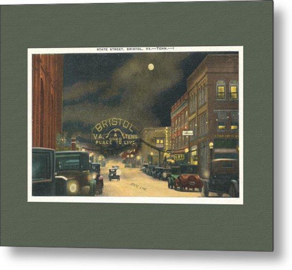 State Street Bristol Va Tn 1920's - 30's Metal Print